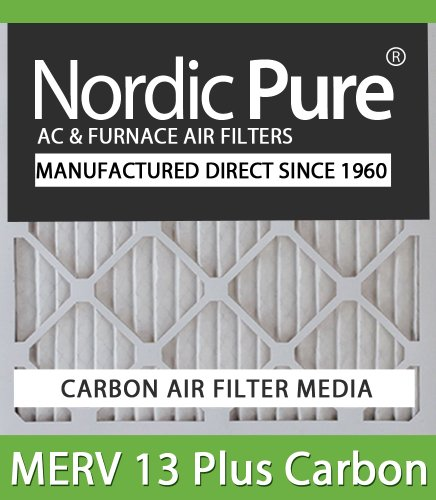 Nordic Pure 16x20x1M13C-12 MERV 13 Plus Carbon AC Furnace Air Filters, Qty-12 at Sears.com