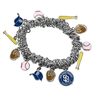 Game Time 101474 MLB San Diego Padres Stretch Bracelet by Game Time