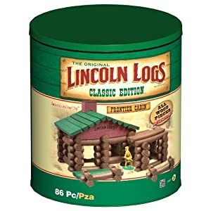 Lincoln Logs Classic Edition Tin Lincoln Logs