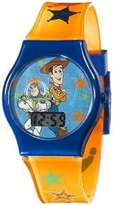 Disney Kids' TY1095 Toy Story Digital Dial Orangle Jelly Strap Watch