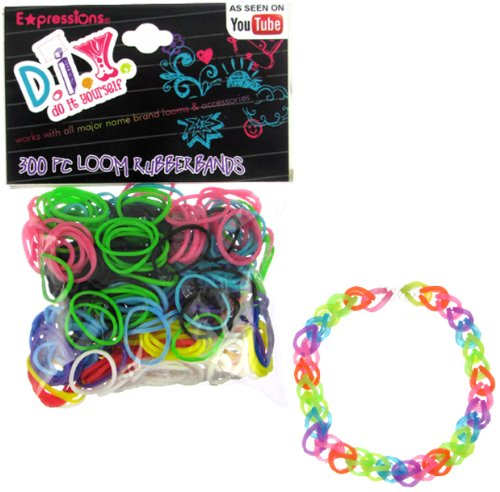 Expressions Girl / D.I.Y. 300-piece Rainbow Color Latex-free Rubber Band Bracelet Loom Refill Pack - 1