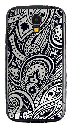 """Silicon Silikon Handy Back Case """"Black/White"""" für Samsung Galaxy S4 i9500 Handy Tasche Schale Cover Schutz Hülle Bumper Etui"""