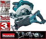 Makita BSS611Z 18V 165mm Cordless Circular Saw Plus BJR181Z 18V LXT Li-Ion Reciprocating Saw (Bare Unit)