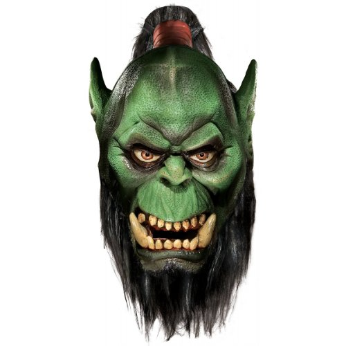 World Of Warcraft Deluxe Latex Mask, Orc, Brown, One Size