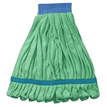 "Wilen A10102, Super Sorb Tube Looped End Wet Mop, Medium, 5"" Head Band, Green (Case of 12)"