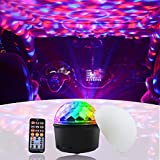 Xuba Bluetooth Sound Activated 9 Colors LED Music Crystal Magic Ball Stage Light Lamp with Remote Control for Home Room Party Club Decoration