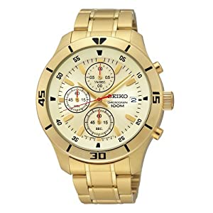 Seiko Men's SKS404 Analog Display Japanese Automatic Gold Watch