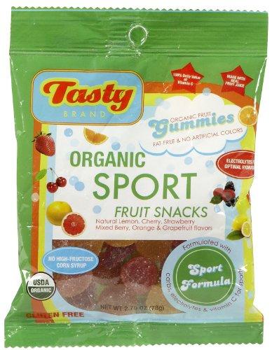 Tasty Brand, Gluten Free Organic Sport Fruit Snack Gummies, Variety Flavors, 2.75 oz (78 g)