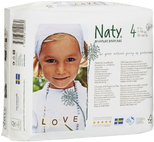 Naty Eco-friendly Baby Diapers Jumbo Pack Size 4 Maxi. 7-18 kg, 15-40 lbs, 27 pcs - 1