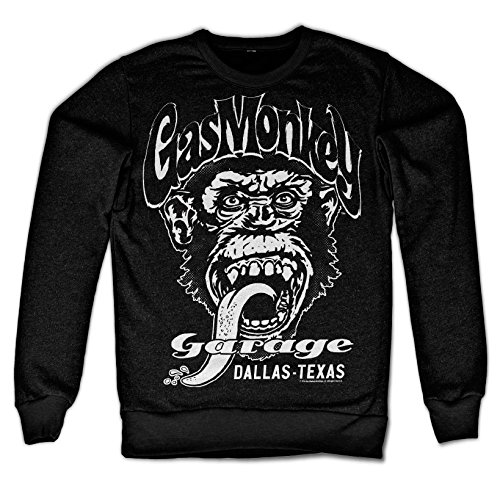 Officially Licensed Merchandise Gas Monkey Garage - Dallas Texas Sweatshirt (Black), XX-Large