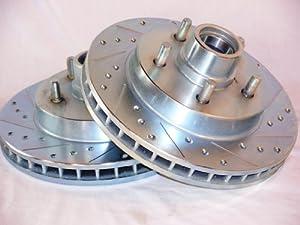 C10 2wd Light Duty D/S Front Brake Disc Rotors +Pads: Automotive