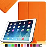 Fintie SmartShell Case for Apple iPad Air (iPad 5 5th Generation) Ultra Slim Lightweight Leather Stand (with Smart Cover Auto Wake / Sleep) – Orange