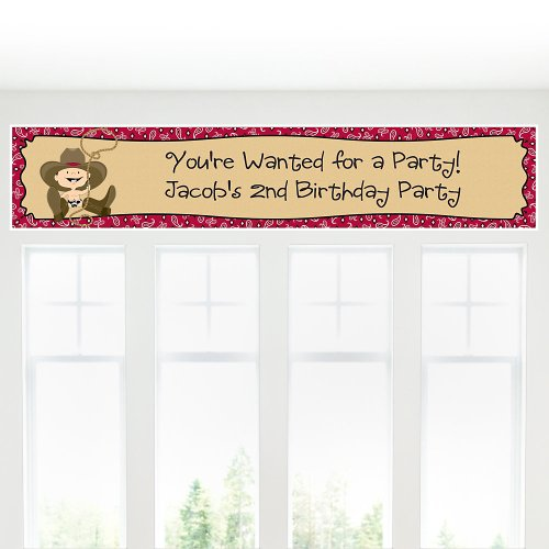 Little Cowboy - Personalized Birthday Party Banners front-704592