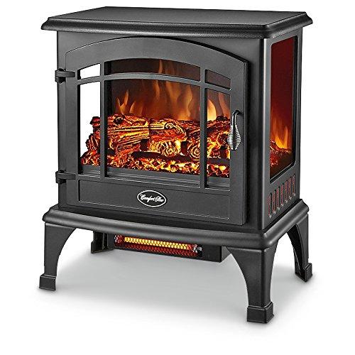 Comfort Glow EQS5140 Sanibel Quartz Electric Stove, 4600 BTU, Black (Infrared Quartz Stove Fireplace compare prices)
