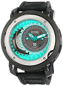Ritmo Mundo Men's 202/2 Green Persepolis Dual-Time Exhibition Automatic Watch