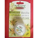 2 X Natures Essence Vanilla Lip Balm With Spf 30 Daily Lip Care (2 Pack X 4g Each)