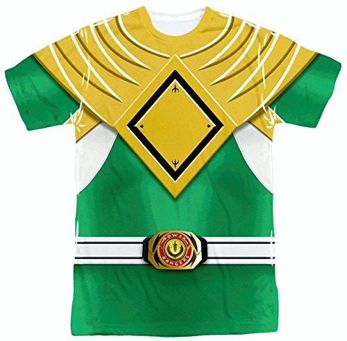 Power Rangers Green Ranger Uniform All Over Front T-Shirt