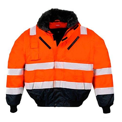 warnschutz-pilotenjacke-winter-gefuttert-xxl-orange-marine-4-in-1-funktion-winddicht-wasserabweisend