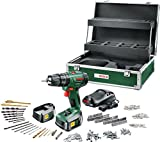 Bosch PSB 1800 LI-2 Cordless Lithium-Ion Hammer Drill Driver with Toolbox and Accessories