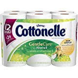 Cottonelle Gentle Care Toilet Paper with Aloe and Vitamin E, Double Roll, 96 Roll Package