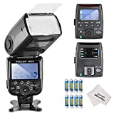 Neewer® MK910 i-TTL *High Speed Sync* 1/8000s HSS LCD Display Speedlite Master/Slave Flash Kit for Nikon D3S D60 D70 D70S D80 D80S D200 D300 D300S D700 D3000 D3100 D5000 D5100 D7000 and All Other Nikon DSLR Cameras,includes(1)MK910 iTTL Flash for Nikon+(