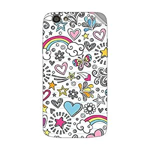 Garmor Designer Mobile Skin Sticker For Spice M 6112 - Mobile Sticker