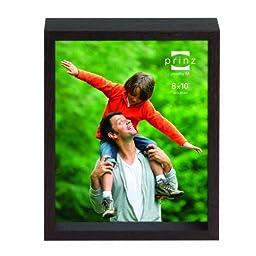 Prinz Vista Shadowbox Wood Frame with Espresso Veneer, 8 by 10-Inch
