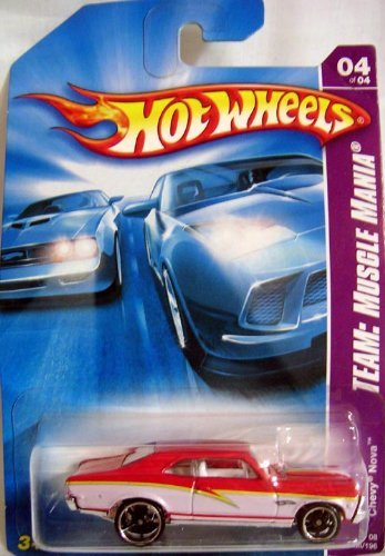 HOT WHEELS TEAM MUSCLE MANIA CHEVY NOVA DIE CAST VEHICLE - 1