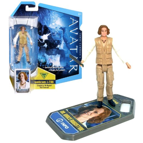 Mattel Year 2009 James Cameron's AVATAR Highly Articulated Detailed Movie Replica 4 Inch Tall Action Figure - DR. GRACE AUGUSTINE with Level 1 Webcam i-Tag (R2299) - 1