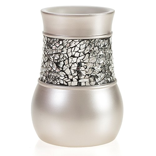 Creative scents brushed nickel bathroom accessories set 4 for Silver mosaic bathroom accessories