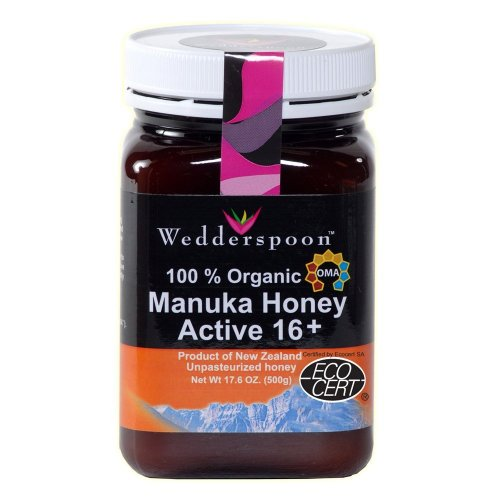 Wedderspoon Raw Organic Manuka Honey Active 16+, 17.6-Ounce Jar