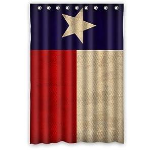 Creative Bath Texas State Flag Shower Curtains 48 X 72 Home Kitchen