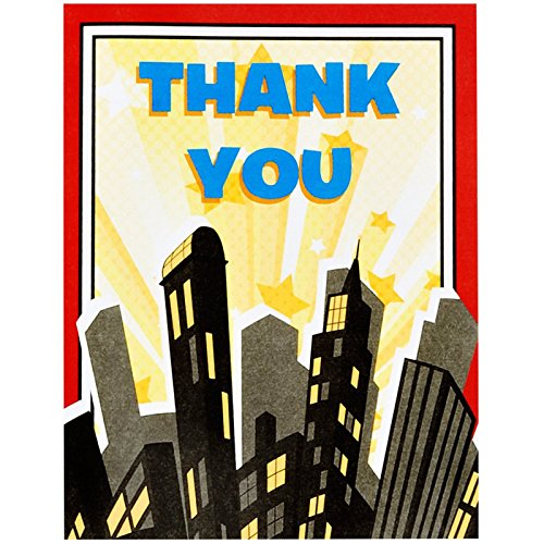Party Destination 229403 Superhero Comics Thank-You Notes