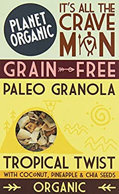 Planet Org Free Grains Paleo Granola Trop Twist 350 g