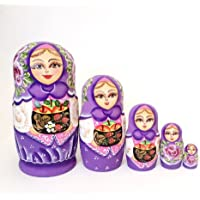 Russian Nesting Doll Princess Hand Painted 5 Piece Doll By Buy Russian Gifts