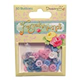 Dovecraft Forget Me Not Plastic Buttons