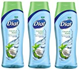Dial Coconut Water & Bamboo Leaf Extract Ultra Fresh Hydrating Body Wash, 16 fl oz (Pack of 3)