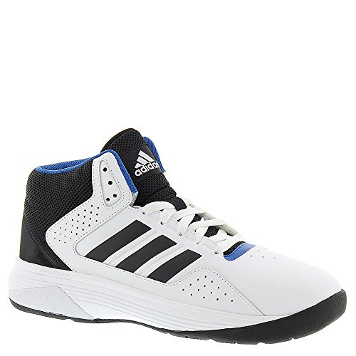 Adidas NEO Men's Cloudfoam Ilation Mid Wide Basketball Shoe, White/Black/Matte Silver, 10 W US