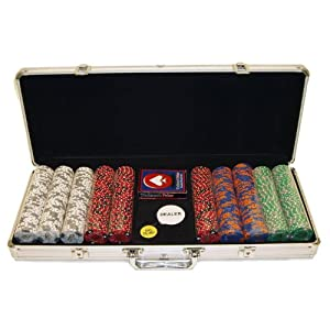 Trademark Fabulous Las Vegas 500 11.5g Poker Chip Set with Aluminum Case (Silver)
