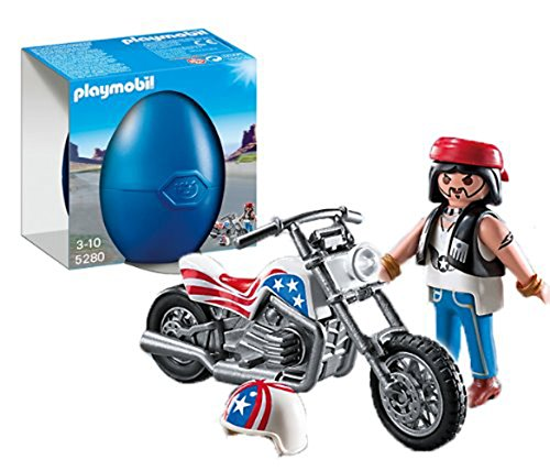 PLAYMOBIL Biker with Motorcycle Playset