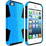 Ariza Imperial® Designer Case for iPhone 5 / 5S – The Best Protective Cover – Slim Grip with Hard Shell – Hybrid Silicon Skin for Men & Girls – Top Durable Protection – FREE Holster Belt Clip / Kick Stand Included – Lifetime Warranty – Dualcom Series (Dark Blue) Reviews