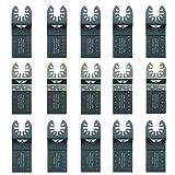 15 x TopsTools FAKB15 Fast Fit Mix Blades for Dewalt, Stanley, Black and Decker, Bosch, Fein Multimaster, Multitalent, Makita, Milwaukee, Einhell, Ergotools, Hitachi, Parkside, Ryobi, Worx, Workzone Multitool Multi Tool Accessories