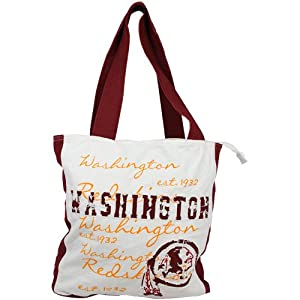 NFL Washington Redskins Canvas Applique Tote Bag by Forever Collectibles