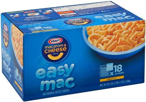 Kraft Easy Mac Macaroni & Cheese Dinner - 18 ct.   (38.7 oz) (Mac Cheese compare prices)