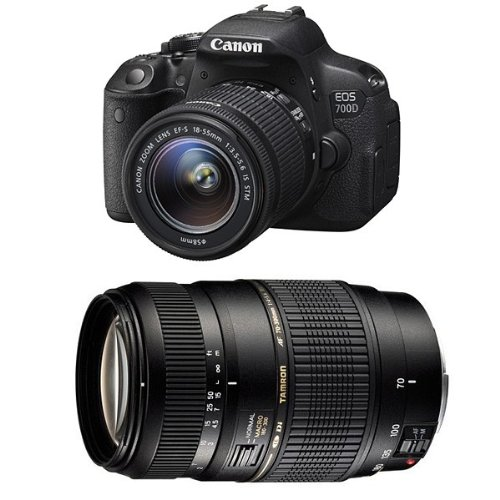 CANON EOS 700D + 18-55 IS STM + TAMRON 70-300 DI