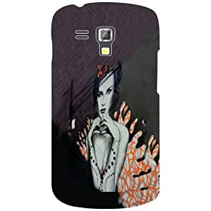 Samsung Galaxy S Duos 7562 Phone Cover -Toon Art Matte Finish Phone Cover