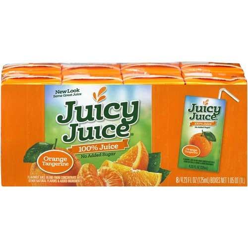 Juicy Juice Orange Tangerine Juice Single Serve Fun Box, 33.84 Fluid Ounce -- 5 per case. (Single Serve Orange Juice compare prices)