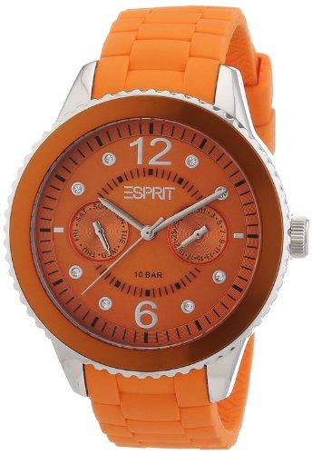 Esprit marin 68 A.ES105332005 - Reloj analógico de cuarzo para mujer, correa de silicona color naranja