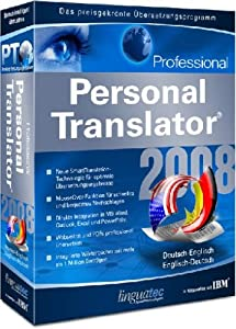 Linguatec personal translator 2008 professional deutsch for Translator englisch deutsch