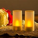 心地よい光が溢れ出す 「魅力的なLEDキャンドルライト(6個セット)」 充電式タイプ 連続8時間使用可能 ゆらめく炎 火事防止 安全安心 リラックスタイム
